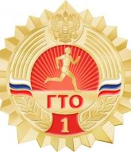Значки ГТО (2014) - Золотой значок - ступень 1